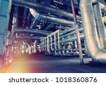 equipment  cables and piping as ... | Shutterstock . vector #1018360876