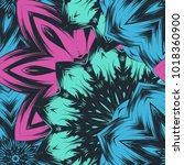 seamless floral background.... | Shutterstock .eps vector #1018360900