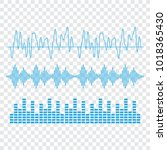 sound waves . sound waves sign... | Shutterstock . vector #1018365430