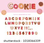 cookie hand drawn decorative... | Shutterstock .eps vector #1018366339