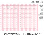 monthly planner book size on...   Shutterstock .eps vector #1018376644