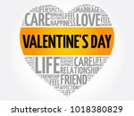 valentine's day concept heart... | Shutterstock .eps vector #1018380829