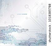 circuit board  chipset... | Shutterstock .eps vector #1018385788