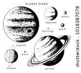 solar system infographics in... | Shutterstock .eps vector #1018387078