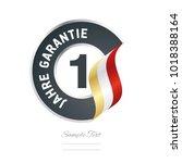 1 year warranty  german   1... | Shutterstock .eps vector #1018388164