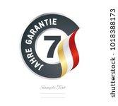 7 years warranty  german   7...   Shutterstock .eps vector #1018388173
