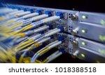 fiber optical connector... | Shutterstock . vector #1018388518
