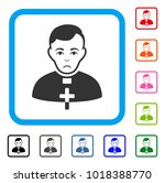 unhappy catholic priest vector... | Shutterstock .eps vector #1018388770