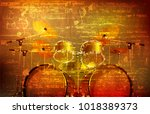 abstract brown grunge vintage...   Shutterstock .eps vector #1018389373