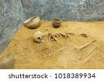 Old Skeleton In Clay  The...
