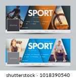 design of vector banners for... | Shutterstock .eps vector #1018390540