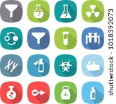 flat vector icon set   funnel... | Shutterstock .eps vector #1018392073