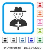 pitiful catholic priest vector... | Shutterstock .eps vector #1018392310