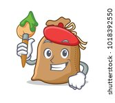 artist sack character cartoon... | Shutterstock .eps vector #1018392550