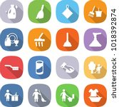 flat vector icon set   cleanser ... | Shutterstock .eps vector #1018392874