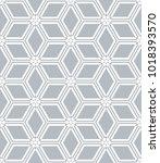 seamless diamonds and hexagons... | Shutterstock .eps vector #1018393570