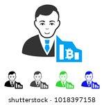 joy bitcoin trader vector... | Shutterstock .eps vector #1018397158