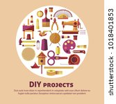 creative art of diy projects... | Shutterstock .eps vector #1018401853
