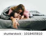 sensual romantic foreplay by... | Shutterstock . vector #1018405810