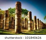 Chichen Itza  Columns In The...
