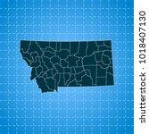 map of montana   Shutterstock .eps vector #1018407130