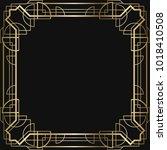 vintage retro style invitation  ... | Shutterstock .eps vector #1018410508