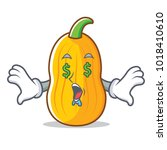 money eye butternut squash... | Shutterstock .eps vector #1018410610