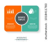 vector infographics template... | Shutterstock .eps vector #1018411783