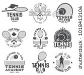 set of tennis club badges.... | Shutterstock .eps vector #1018413106