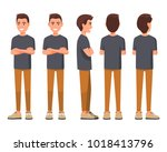 vector illustration of smiling... | Shutterstock .eps vector #1018413796