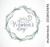 women's day typographical...   Shutterstock .eps vector #1018414696