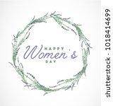 women's day typographical...   Shutterstock .eps vector #1018414699