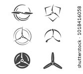 propellers icons. set of... | Shutterstock .eps vector #1018416058