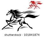 fast running stallion in two... | Shutterstock . vector #101841874