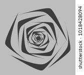 rose. vector flower. beautiful...   Shutterstock .eps vector #1018428094