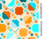 colorful mosaic background with ... | Shutterstock .eps vector #1018430074