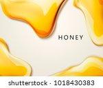honey liquid texture  golden... | Shutterstock .eps vector #1018430383