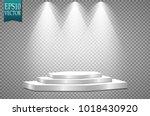 vector floodlights. scene.... | Shutterstock .eps vector #1018430920