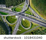 aerial view above of a massive... | Shutterstock . vector #1018431040