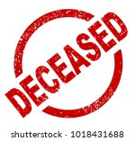 an deceased red ink stamp on a... | Shutterstock . vector #1018431688