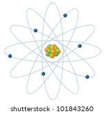Illustration Of Atom Structure...