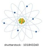 Illustration Of Atom Structure...