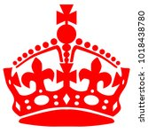 crown as used in stay calm... | Shutterstock . vector #1018438780