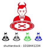 dolor devil roulette dealer... | Shutterstock .eps vector #1018441234