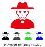 unhappy catholic priest vector... | Shutterstock .eps vector #1018441270