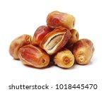 medjool dates on white...   Shutterstock . vector #1018445470