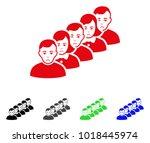 dolor people queue vector icon. ... | Shutterstock .eps vector #1018445974