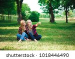 lifestyle and people concept ... | Shutterstock . vector #1018446490