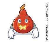 silent red kuri squash mascot...   Shutterstock .eps vector #1018446760
