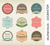 icons with labels in vintage... | Shutterstock .eps vector #101844709
